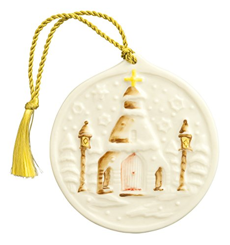 Belleek 4250 Snowflake Church Ornament, 3.1-Inch, White