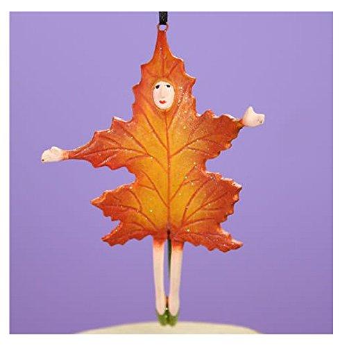 Patience Brewster Halloween Home Decor Mini Orange Falling Leaf Ornament 31036