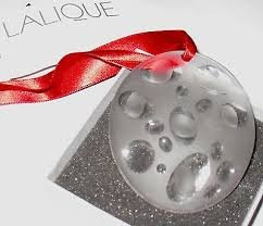 Lalique Crystal 2007 Icy Bubble Ornament