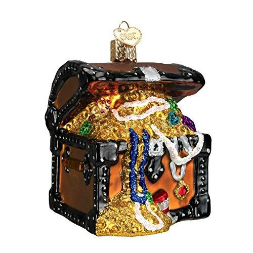 Old World Christmas Treasure Chest Glass Blown Ornament