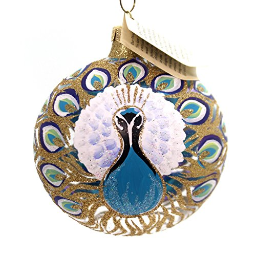 Christina's World MAGNIFICENT PLUMAGE Glass Poland Peacock Flo731