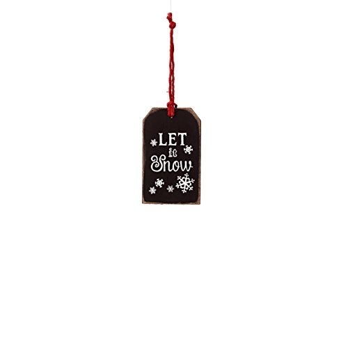 Sage & Co. XAO19944BK Chalkboard Snow Tag Ornament (24 Pack)