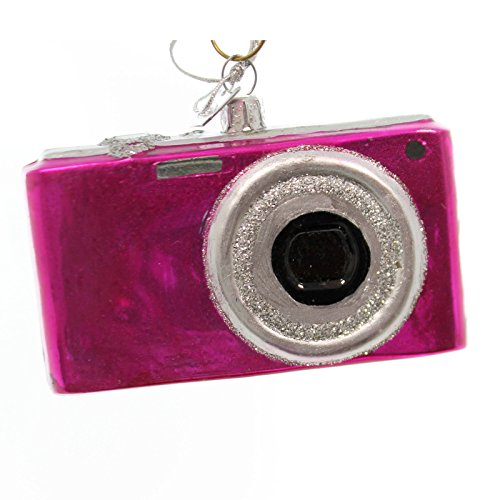 Noble Gems DIGITAL CAMERA Glass Glass Christmas Ornament Nb0397 Pink