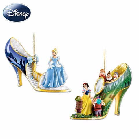 Disney Once Upon A Slipper Bradford Exchange Ornament Set #1