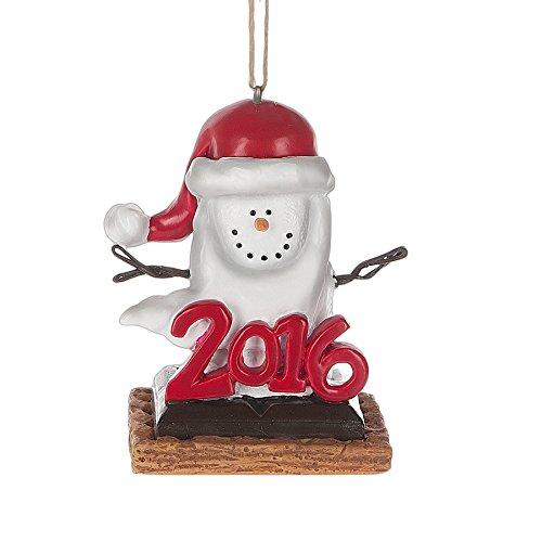 Smores Santa Hat 2016 Resin Stone Christmas Ornament Figurine