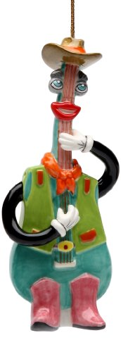 Appletree Design Country Guitar Ornament, 5.2-Inch Tall, Includes String for Hanging