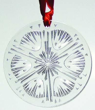 Lalique 2005 Clear Thistle Ornament