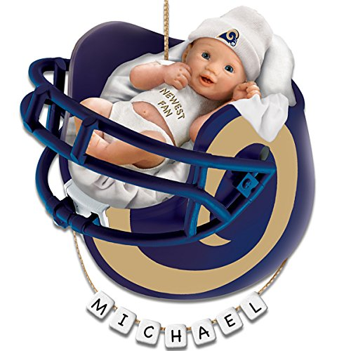 NFL St. Louis Rams Personalized Baby's First Christmas Ornament by The Bradford Exchange