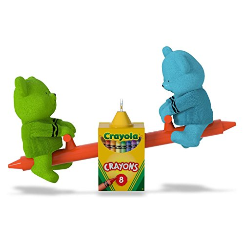 Hallmark 2016 Toddler Crayola Beary Colorful Friends Christmas Ornament