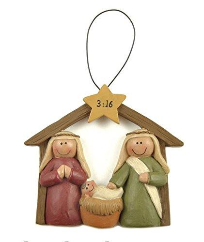 Baby Jesus Manger Ornament (1 Piece)