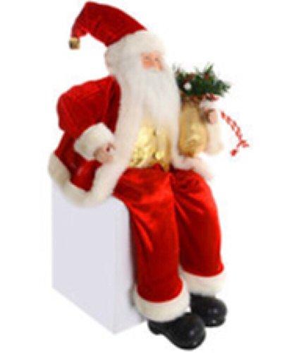 Macy's Holiday Lane Sitting Santa Christmas Ornament