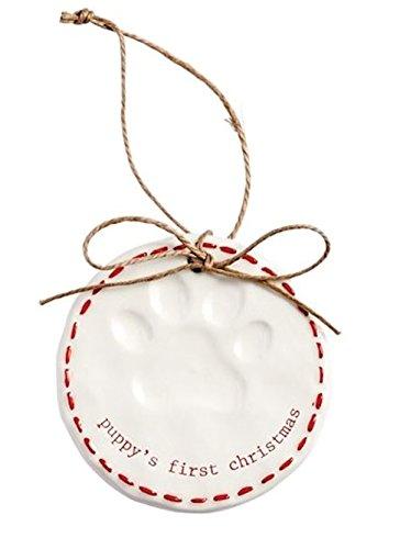 Mud Pie Paw Print Ornament