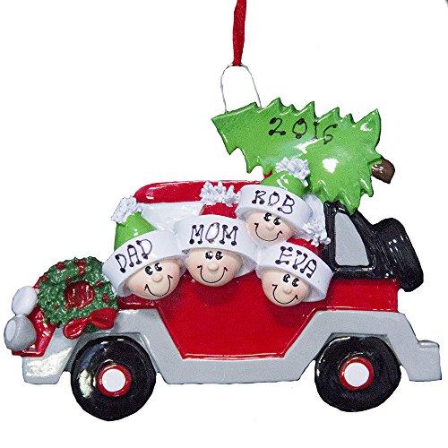 Personalized Caravan Ornament of 4-Free Personalization