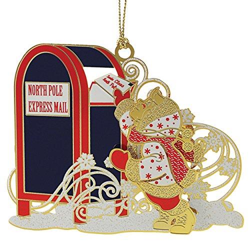 New 24K Gold Letter to Santa Christmas Tree Ornament