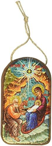G. Debrekht Thodox Nativity Icon Wooden Ornament