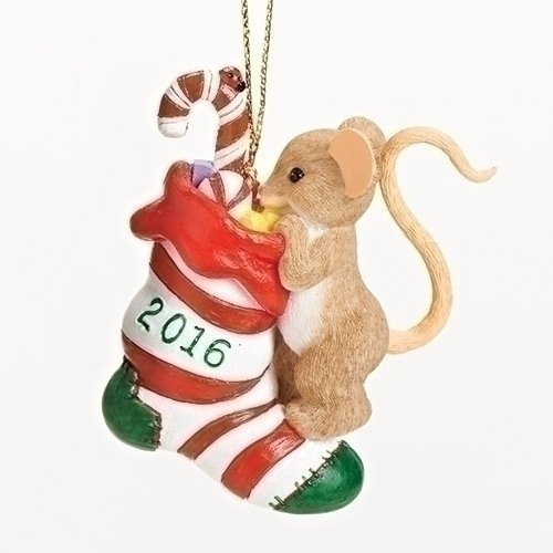 2016 Charming Tails There Are a Whole Lot of Gifts Christmas Ornament Mouse New by Charming Tails