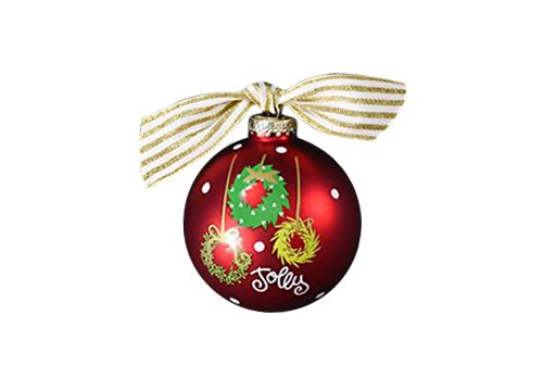 Coton Colors Hanging Wreaths Glass Ornament