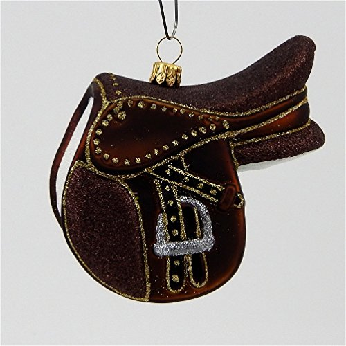 English Riding Saddle – Polish Blown Glass Ornament