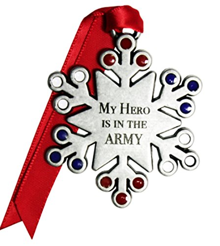 NEW! 2016 My Hero Is In The Army Snowflake Christmas Ornament by Gloria Duchin