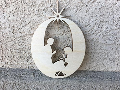 Nativity Christmas Ornament, 2.8×4 inches, Set of 5
