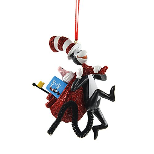 Department 56 Dr. Seuss From Cat with The Bag Ornament 4.13 In