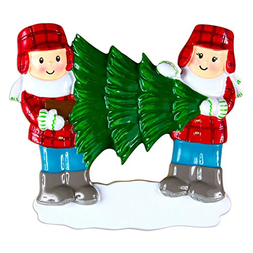 Christmas Tree Lot Family Of 2 Personalized Christmas Tree Ornament