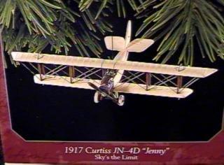 QX6286 Sky's the Limit #2 1917 Curtiss JN-4D Jenny 1998 Hallmark Keepsake Ornament