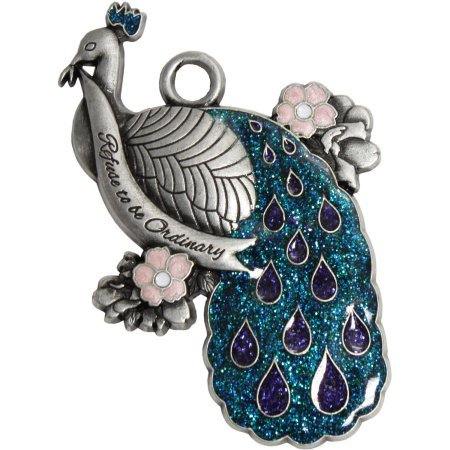 Pewter Peacock Ornament