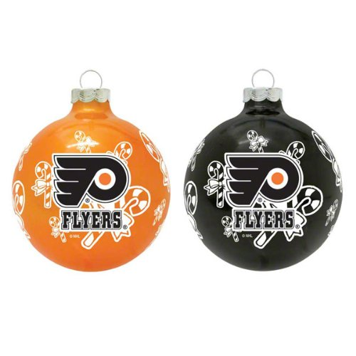 NHL Philadelphia Flyers Traditional 2 5/8″ Ornament Set in Primary and Secondary Team Color