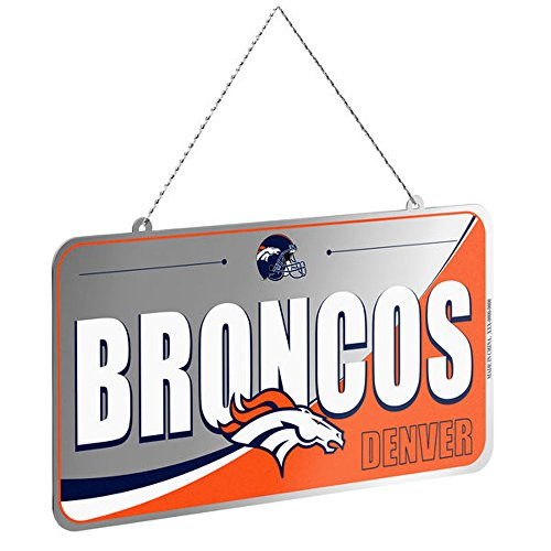 Forever Collectibles NFL Team License Plate Ornaments (Broncos)