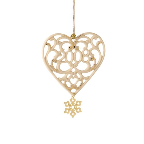 Lenox 2008 A Year to Remember Heart Ornament