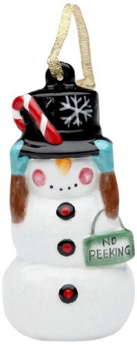 Appletree Design No Peeking! Snowman Ornament, 3-5/8-Inch Tall, Includes String for Hanging