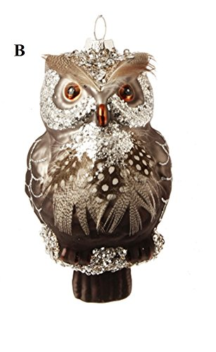 RAZ Natural Elegance 2 Owl Ornament, Choice of Style (B)