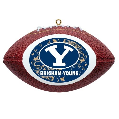NCAA Brigham Young Cougars Mini Replica Football Ornament