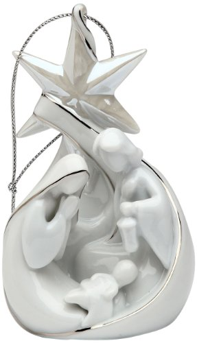 Appletree Design Nativity Star and Holy Family Ornament, 4-Inch Tall, Includes String for Hanging