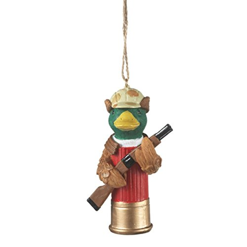 Duck on a Shotgun Shell Christmas Ornament