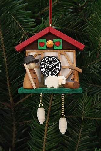 Tree ornaments Tree Ornaments Cuckoo Clock Shepherd – 7,0×6,7cm / 3×3 inch – Christian Ulbricht