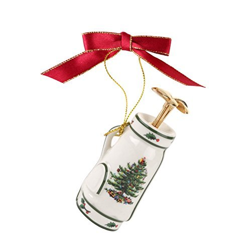Spode Christmas Tree Ornament, Golf Bag by Spode