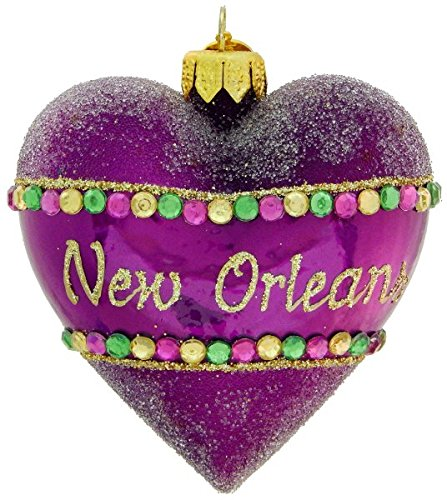 New Orleans Jeweled Heart