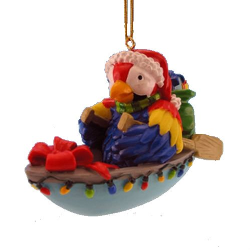 Rowboat Parrot Ornament