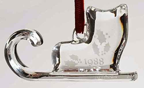 Orrefors Lead Crystal 1988 Sleigh Ornament