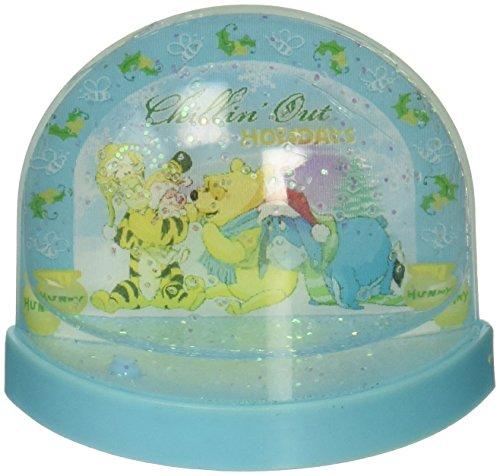 Licensed Disney Mini Lenticular Plastic Snowglobe (Flat Back) (Winnie the Pooh)