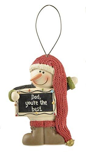 Family Snowman Christmas Ornaments (Dad, Grandma, Grandpa, Nana) (Dad)