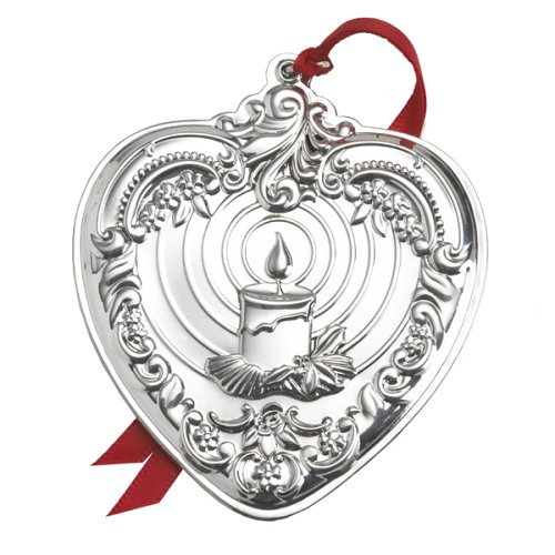 Wallace Grand Baroque Sterling Heart Ornament, 15th Edition