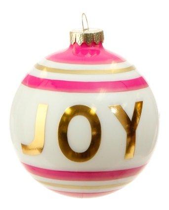 RAZ Imports – 4″ Message Ball Christmas Ornaments (Joy)