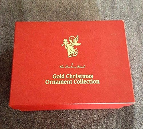 gold christmas ornament collection by Danbury Mint (set of 12)