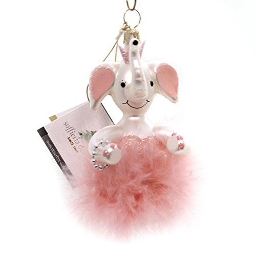 De Carlini MINI ELEPHANT DANCER Glass Ornament Packaderm Pink Dance A2269p