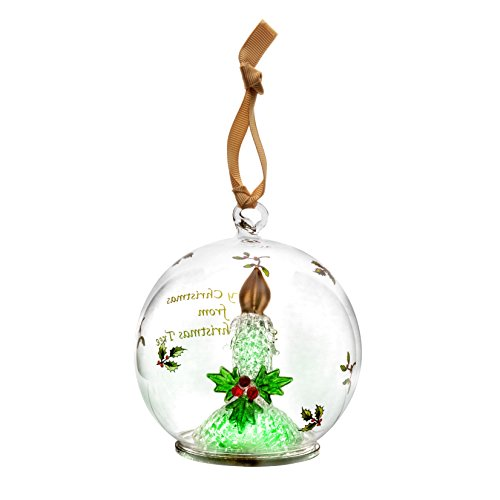 Spode Christmas Tree Glass Ornament, Candle