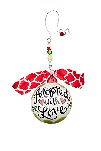 Glory Haus Adopted with Love Ball Ornament, 4.5″