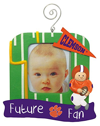 Clemson Tigers Official NCAA 5 inch x 5 inch Future Fan Photo Frame Christmas Ornament by Evergreen 166761